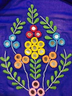 Mirror with beads handwork Zardozi Embroidery, Hand Embroidery Videos, Bead Embroidery Patterns, Hand Embroidery Flowers, Hand Work Embroidery, Flower Embroidery Designs, Crewel Embroidery, Beaded Embroidery, Kutch Work Designs