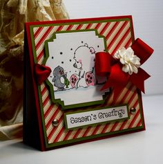 Christmas Card  Handmade Greeting Card  Season's by CardInspired, $3.95