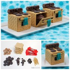 DIY Graham Cracker Oven Tutorial from She Knows. Have kids help...
