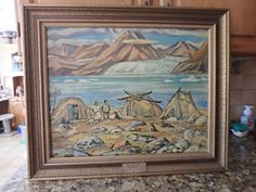 Vintage Canvas Inuit Art  ESKIMO SUMMER CAMP Jackson  yyuupp Mississauga / Peel Region Toronto (GTA) image 1