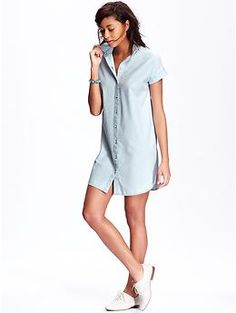 1000 images about in love with chambray on pinterest for Denim shirt women old navy