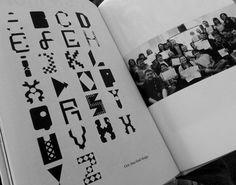 'TypeWars' collaborative typeface design at #designatmagee.  Pic by Caroline.