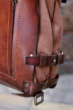 Canvas Backpack, Backpack Bags, Sling Backpack, Vintage Backpacks, Brown Backpacks, Vintage Canvas, Vintage Bags, One Shoulder Backpack, Vintage Leather Backpack
