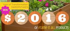 $2016 of Frame It All Product Transformation Sweepstakes! Ends... IFTTT reddit giveaways freebies contests