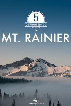 Here are a few of our nominees for the most stunning spot in Mount Rainier National Park (in no particular order!)