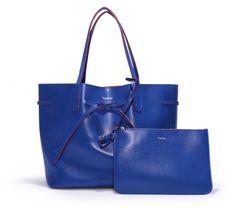 Cabas Coppelia - Cuir Coutances Bleu France - Non - Repetto
