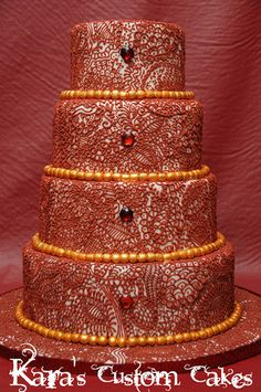 Mehndi-Inspired Cakes and Cookies