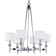 Check out this item at One Kings Lane! Braxton 6-Light Chandelier, Nickel