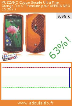"""MUZZANO Coque Souple Ultra Fine Orange """"Le S"""" Premium pour XPERIA NEO ( SONY ) (Accessoire). Réduction de 63%! Prix actuel 9,98 €, l'ancien prix était de 26,81 €. https://www.adquisitio.fr/muzzano/4936-coque-souple"""