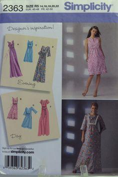 Simplicity 2363 Misses' Dresses