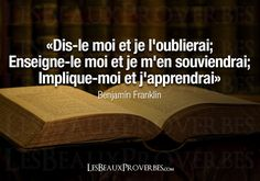 Les Beaux Proverbes – Proverbes, citations et pensées positives » » Apprendre Quotes By Famous People, People Quotes, Professor, Controlling People, Good Quotes For Instagram, Thinking Quotes, Benjamin Franklin, French Quotes, Sweet Words