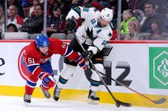 San Jose Sharks forward Patrick Marleau looks to move the puck ahead (Oct. 26, 2013).