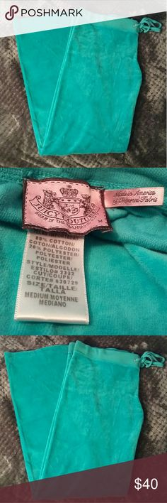 Juicy couture teal pants Waist across 17in Inseam 30in Juicy Couture Pants