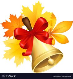 School bell vector image on VectorStock Web Design, Graphic Design, Autumn Leaves, Adobe Illustrator, Vector Free, Pdf, School, Illustration, Image