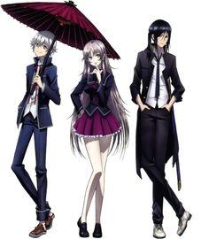 K project The Silver Trio: Shiro, Neko, and Kuroh