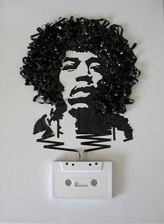 Ghost in the Machine: portraits of musicians made from casette tape