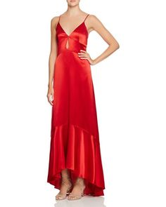 Jill Jill Stuart Silk High/Low Gown