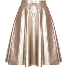 Msgm Metallic Full Skirt ($348) ❤ liked on Polyvore featuring skirts, bottoms, saias, faldas, silver, brown leather skirt, brown skirt, full skirt, brown high waisted skirt and high rise skirts