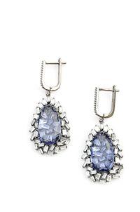 Esther Earrings #jewelry #elliebing #fashion #shopeb #sterlingsilver #earrings #semiprecious #rhinestone