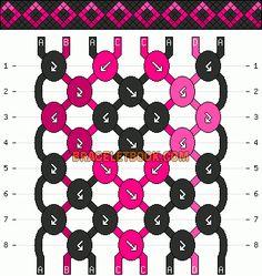 Normal Friendship Bracelet Pattern #10915 - BraceletBook.com