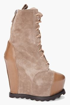 ACNE Avalanche Wedge Boots.