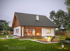 projekt domu C333b Miarodajny - wariant II - Murator projekty Home Fashion, Sweet Home, Cottage, House Design, Patio, House Styles, Inspiration, Wille, Home Decor