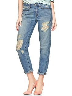 Gap 1969 Destroyed Sexy Boyfriend Jeans