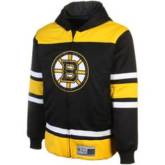 Boston Bruins Youth Jersey Full Zip Hooded Jacket a Black/Gold $89.95 http://www.newenglandusa.com/Boston-Bruins/boston-bruins-youth-gear.php