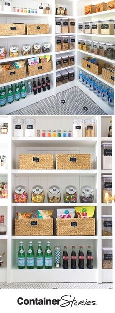 5 Steps to An Organized Pantry with Neat Method and The Container Store Pretty neat! See how our friends at Neat Method organized a pantry using some Kitchen Organization Pantry, Home Organisation, Kitchen Pantry, Diy Organization, Organizing Ideas, Kitchen Storage, Organized Pantry, Pantry Ideas, Kitchen Hacks