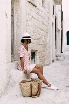 WAKACYJNY LUZ | GuessWhat Espadrilles Outfit, Fedora Outfit, Spring Fashion, Winter Fashion, Preppy Casual, Street Style Summer, Lingerie, Summer Collection, Her Style