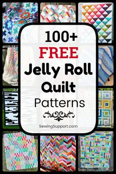 jellyroll quilts Over 100 free jelly roll quilt patterns & tutorials. Quilting ideas and projects using fabric strips. Many simple and easy designs. Strip Quilts, Patch Quilt, Easy Quilts, Baby Quilt Tutorials, Sewing Tutorials, Sewing Tips, Free Sewing, Sewing Hacks, Free Tutorials