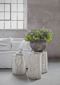 Petrified wood stools