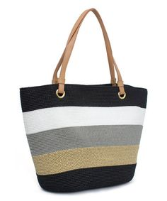 Another great find on #zulily! Black & Gray Color Block Tote by Magid #zulilyfinds