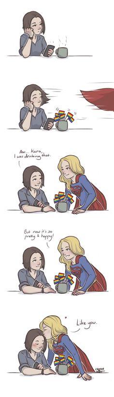 Kara & Alex Danvers, Supergirl | Kara benig supportive of Alex is my absolute favorite thing