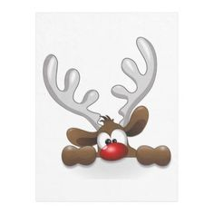 Reindeer head clip art - vector clip art online, royalty free and public domain Christmas Rock, Christmas Pictures, Christmas Holidays, Christmas Decorations, Christmas Ornaments, Funny Christmas, Rudolph Christmas, Holiday Images, Christmas Projects