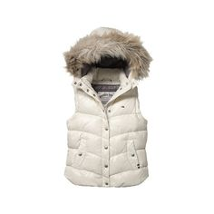 42f070de8837 Womens Tommy Hilfiger Sleeveless shiny body warmer with deatchable hood