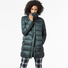 This jacket is everything. My mother purchased this jacket in Green while either in Europe or New York last year and it has become a go to for cool weather. This Ultra Light Down Jacket packs into ...