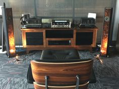 McIntosh C22 preamplifier and two MC75 mono block tube amplifiers powering Brodmann Acoustics Vienna Classic VC2's in Burl-wood available for demoing in our state of the art showroom @ 9340 W. Sahara Avenue, Suite 100, Las vegas, NV 89117.