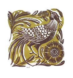 """""""In his finery"""" Linocut by Amanda Colville"""