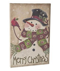 Take a look at this Snowman Canvas Wall Art by GANZ on #zulily today!