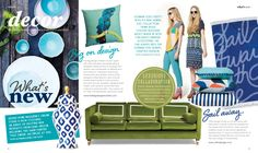 Design in Print│ Adore Home Magazine October 2013 featuring the Diane Bergeron for Arthur G Collection Peyton Sofa