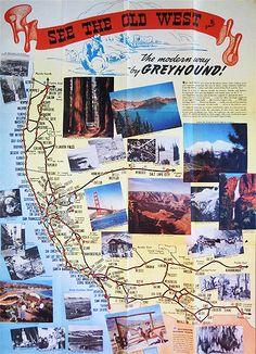 California Greyhound brochure