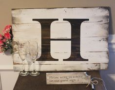 Rustic Wedding Guest Book Alternative - Unique Wedding Guest Sign - Personalized Wedding Guest Sign In Pallet Wood Sign - Keepsake Item