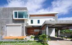 บ้านพักอาศัย2ชั้น โดดเด่นด้วยปูนเปลือย ผลงานโดย fewdavid3d-design Mansions, House Styles, Outdoor Decor, Home Decor, Decoration Home, Room Decor, Fancy Houses, Mansion, Manor Houses