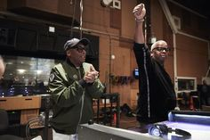 Spike Lee (L) and Terence Blanchard (R) at a scoring session for 'Da 5 Bloods' Blood Photos, Contemporary Jazz, Truth To Power, Social Injustice, Film Score, Spike Lee, Malcolm X, Marvin Gaye, Piece Of Music