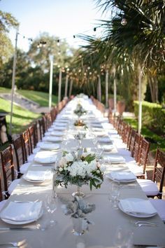 Beautiful long table