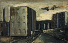 Mario Sironi (Italian, 1885-1961), Periferia, 1934. Oil on canvas, 35.5 x 55.5 cm.