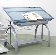 Avanta Drafting Table - by Studio Designs - a professional table with a foot rest and lots of onboard storage, this table is a must for a drafting studio.