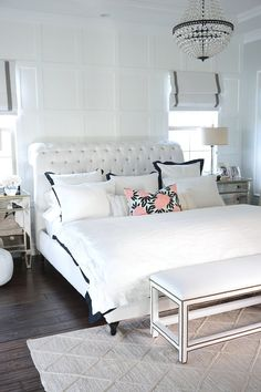 Classic Coastal Home Master Bedroom