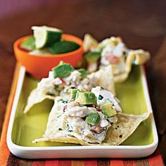 Chipotle-Lime Crab Crisps   CookingLight.com